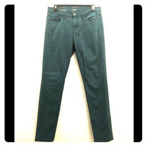 Ann Taylor LOFT Emerald Green Skinny Jeans